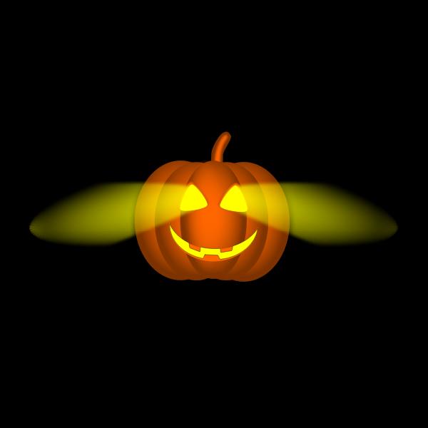 Lit-up Halloween pumpkin vector image