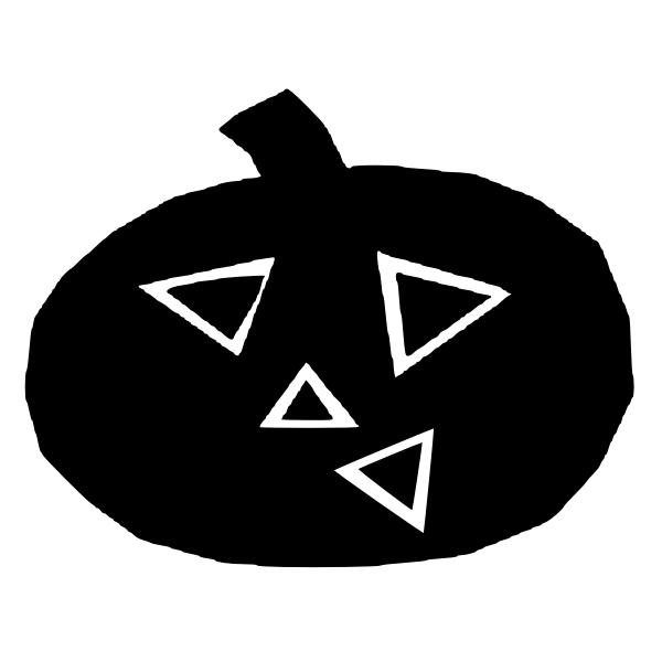 Pumpkin silhouette drawing