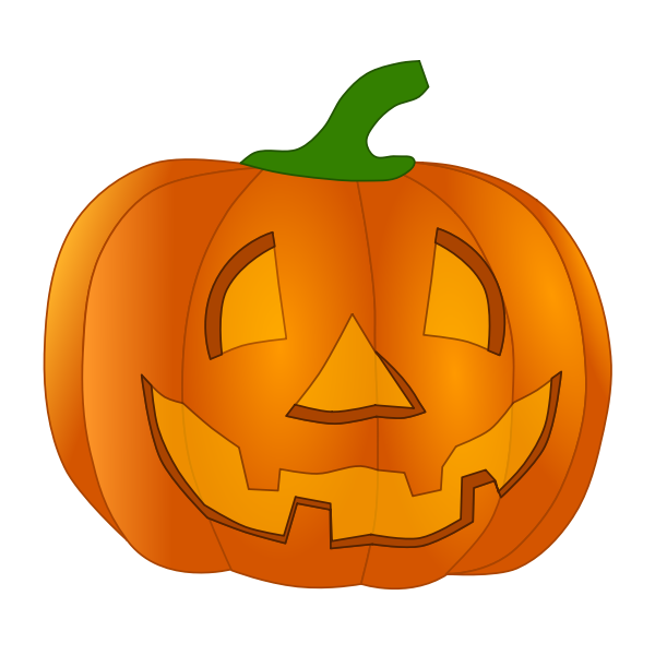 Orange smiling pumpkin vector clip art