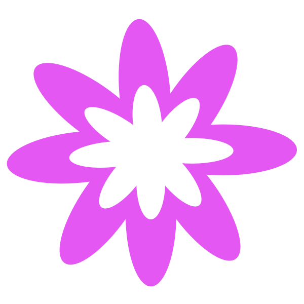 Purple Burst Flower