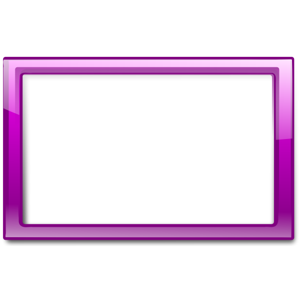 Gloss transparent purple frame vector drawing