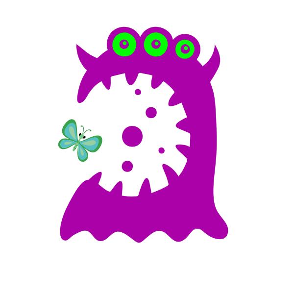 Cartoon purple monster