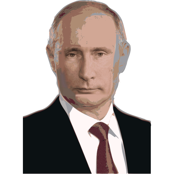 Vladimir Putin portrait vector image