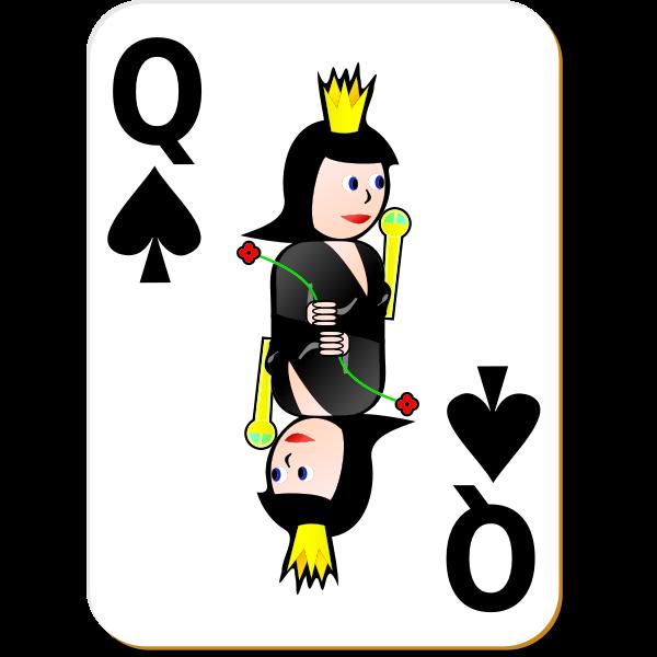 Queen of Spades gaming card vector image