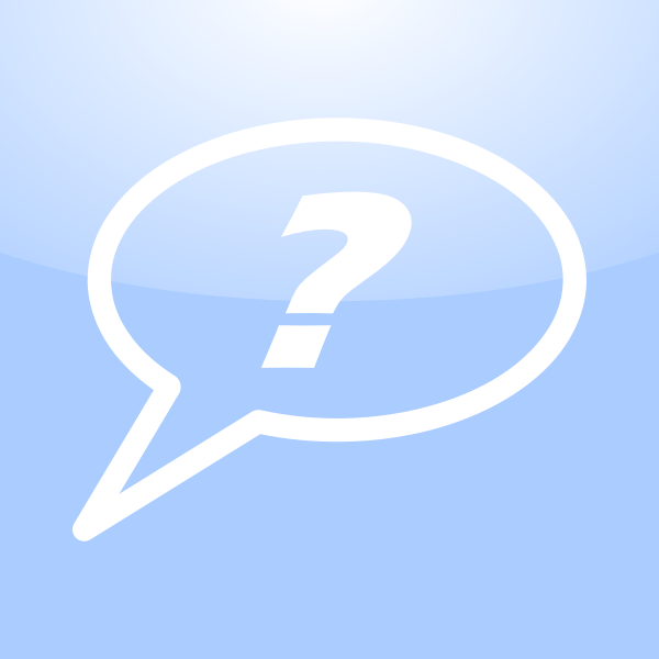 Mac question icon vector illustration