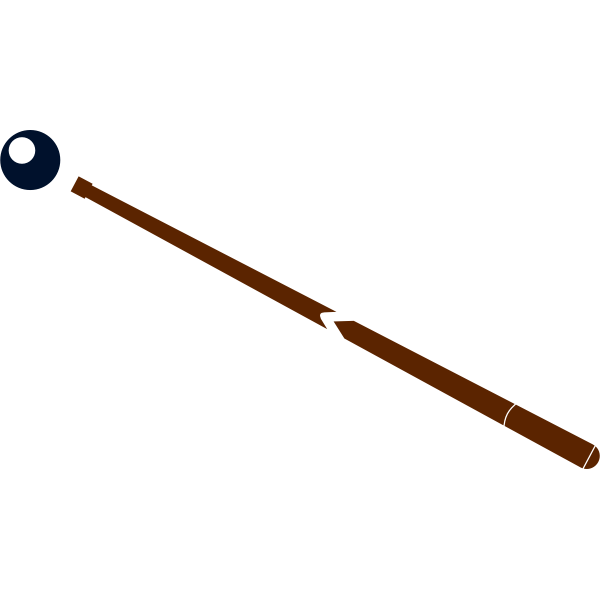Image of stick and ball for playing snooker
