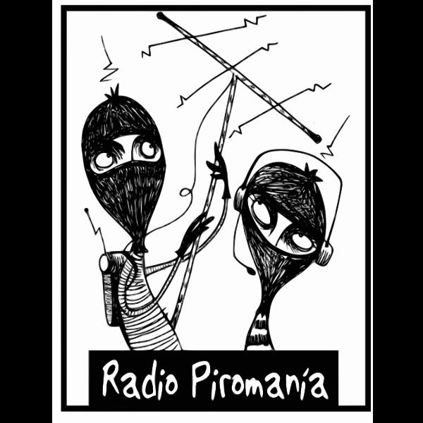 Vector illustration of radio Piromania logo