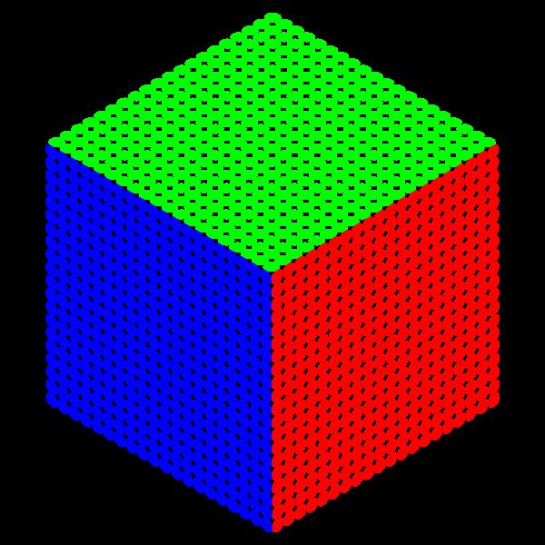 Three-colored cube