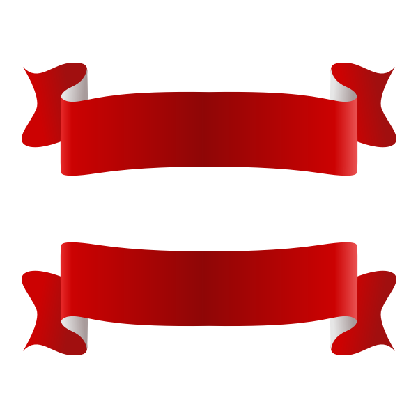 Red and white ribbon vector image