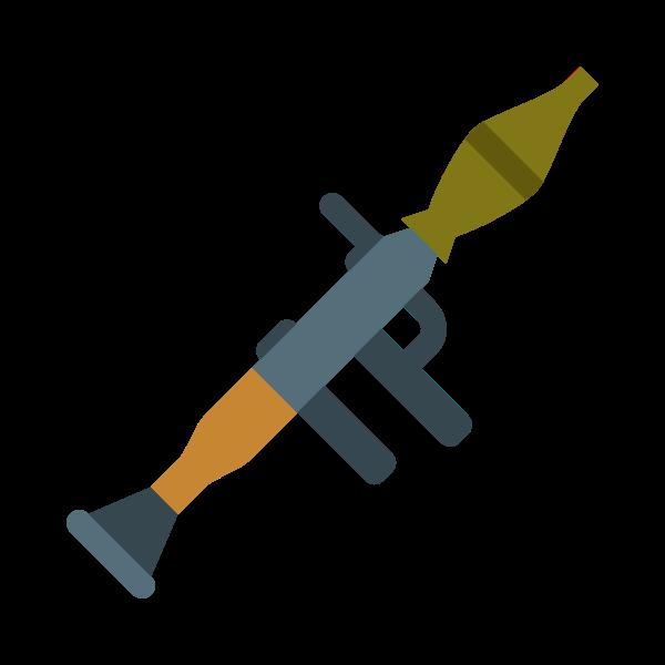 Colored bazooka vector image