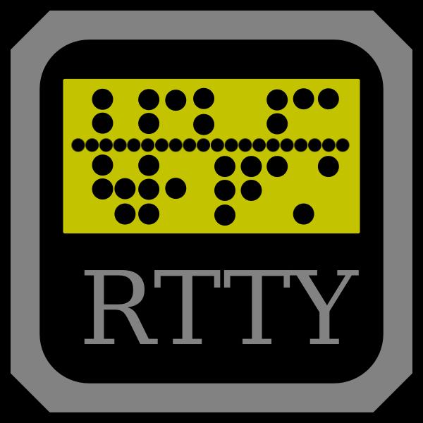 RTTY telex machine vector symbol