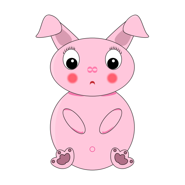 Pink rabbit image