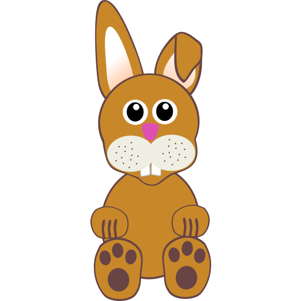 Funny bunny toy illustration