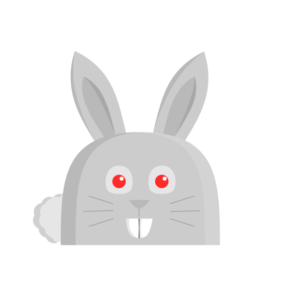 Vector drawing of bunny with long ears
