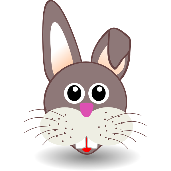 Vector drawing of a bunny