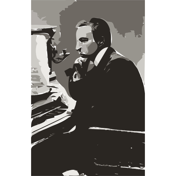 Rachmaninoff in 1900s (autotrace)