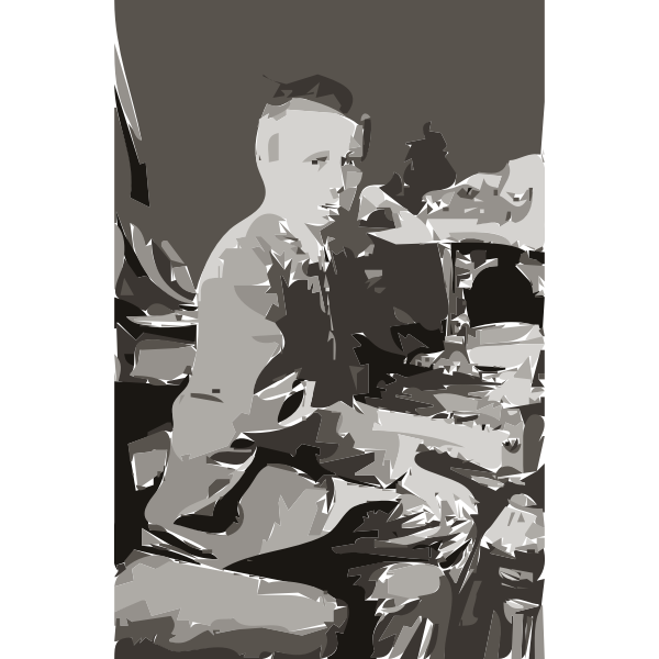 Rachmaninov at age 10 (autotrace)
