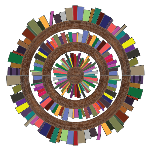Radial bookshelves image