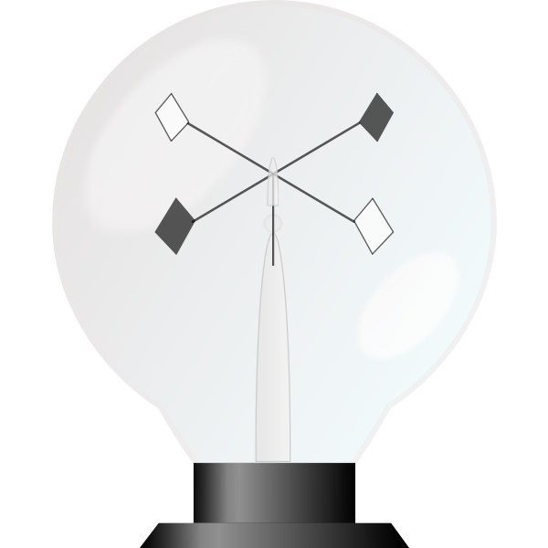 Crookes radiometer vector image