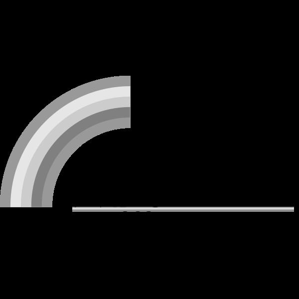 Rainbow  Road logo grayscale