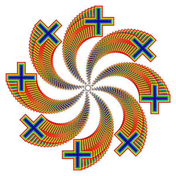 Rainbow Cross Design