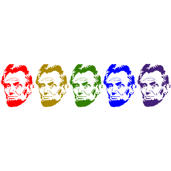 Abraham Lincoln silhouettes