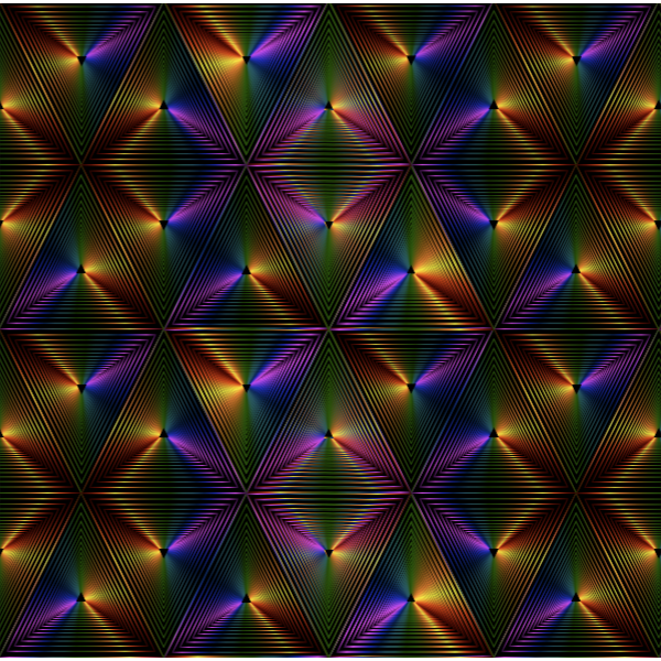 Vector graphics of rich rainbow pattern