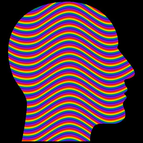 Rainbow Waves Head