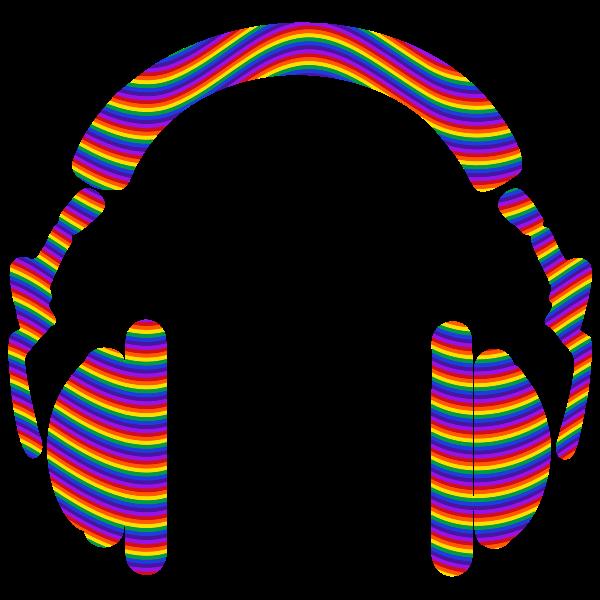 Rainbow Waves Headphones
