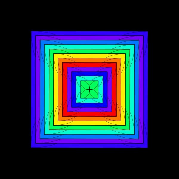 Vector illustration of multicolor square