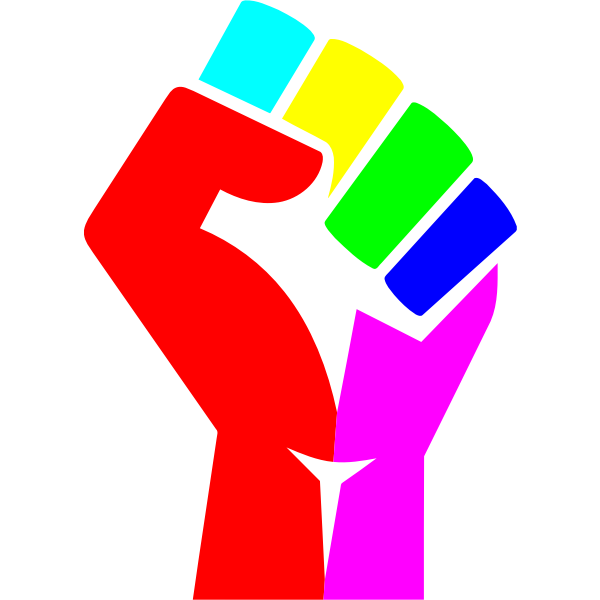 Rainbow Fist saturated colors
