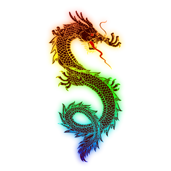 Rainbow dragon vector image