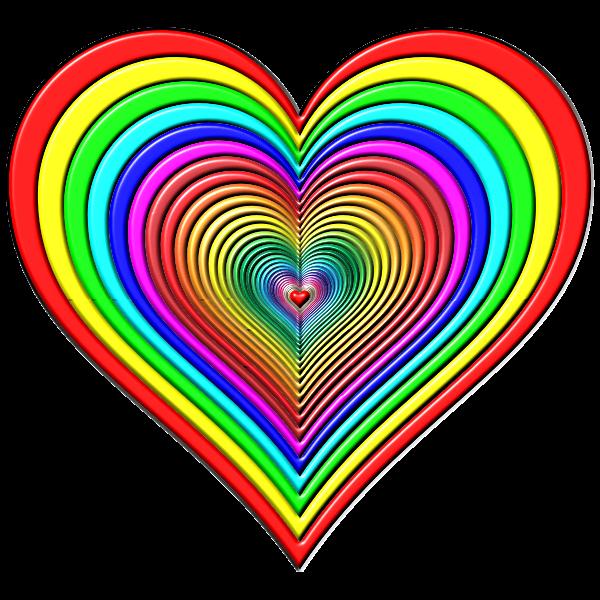 Rainbowrific Heart Enhanced