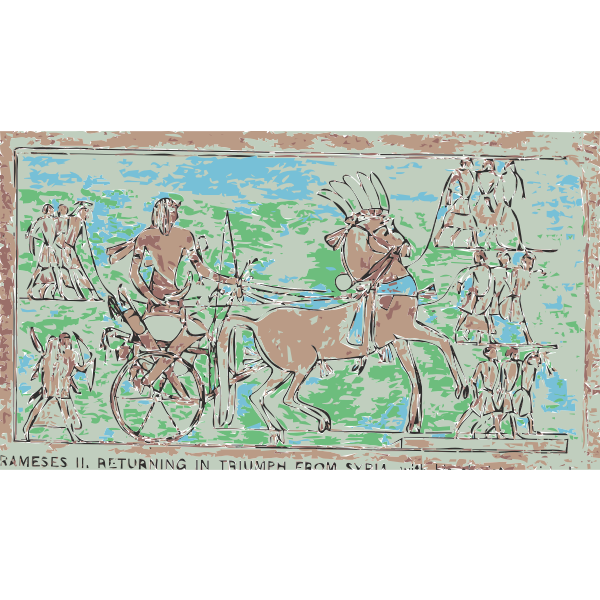 Rameses II Returning in triumph from Syria vector illustration
