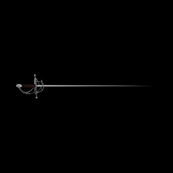Drawing of long metal sword