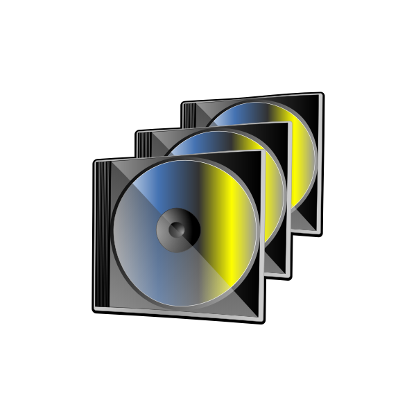 Group of 3 compact discs vector image