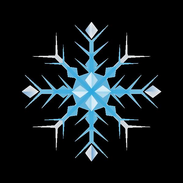 Simple geometric snowflake vector illustration