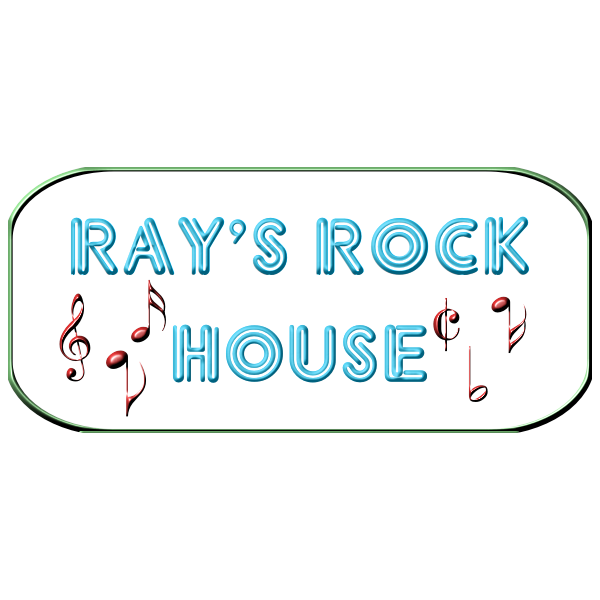 Ray's Rock House neon sign vector image