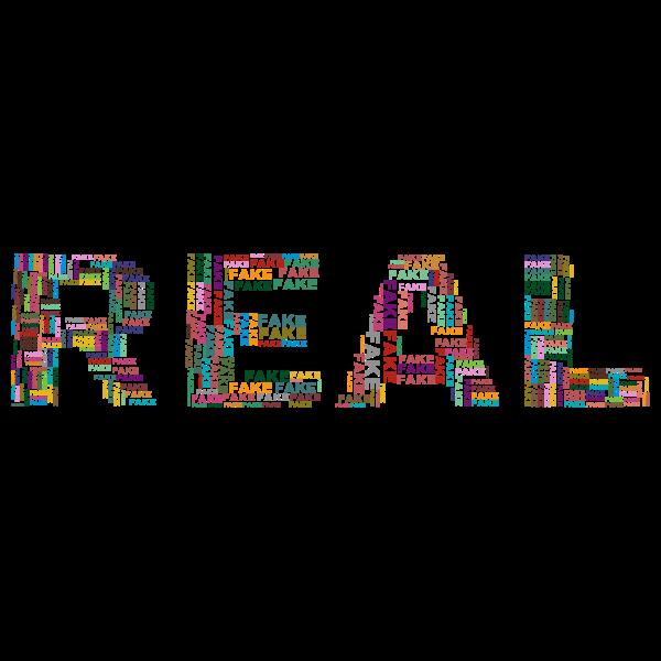 Real Fake word cloud