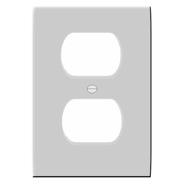 Receptacle cover vector drawing