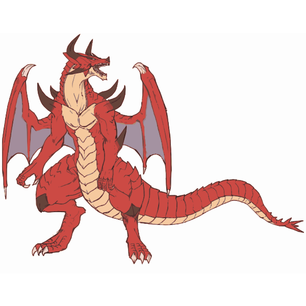 Red Dragon Clipart Free Svg