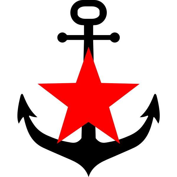 Anchor and red star