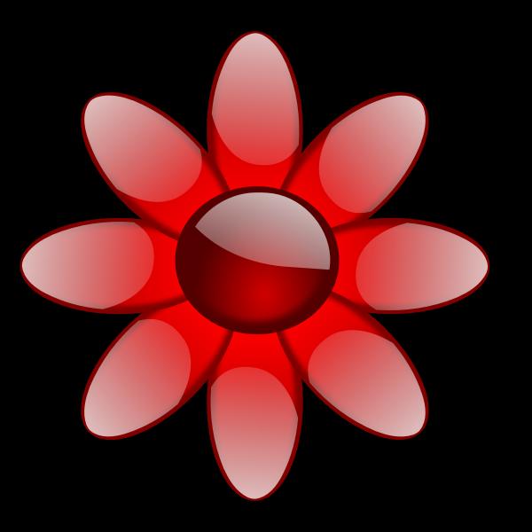 Glossy flower vector image