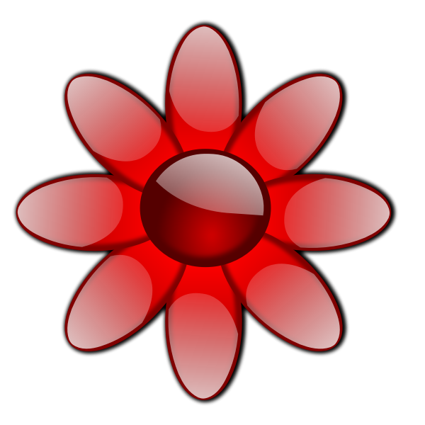 Glossy flower vector image