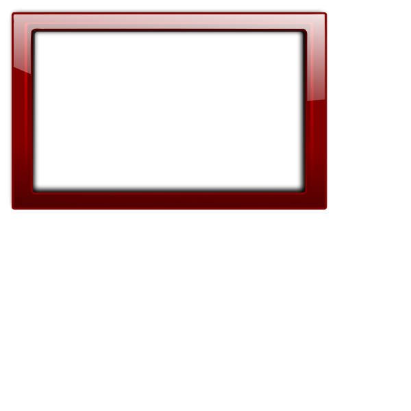 Gloss transparent red frame vector illustration