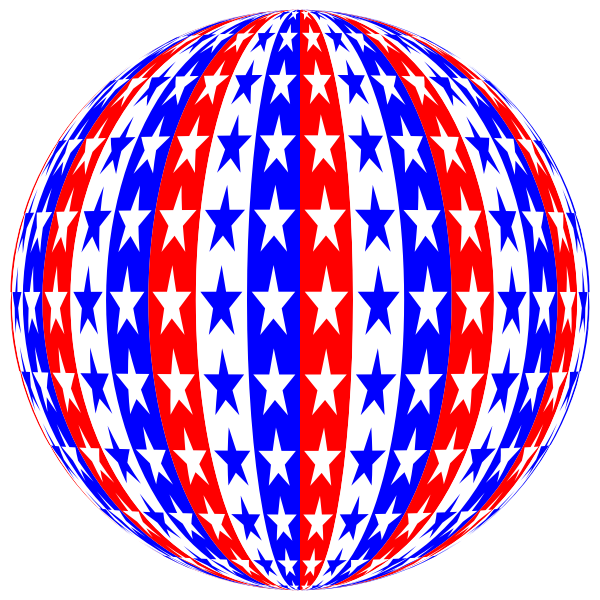 Red White Blue Sphere