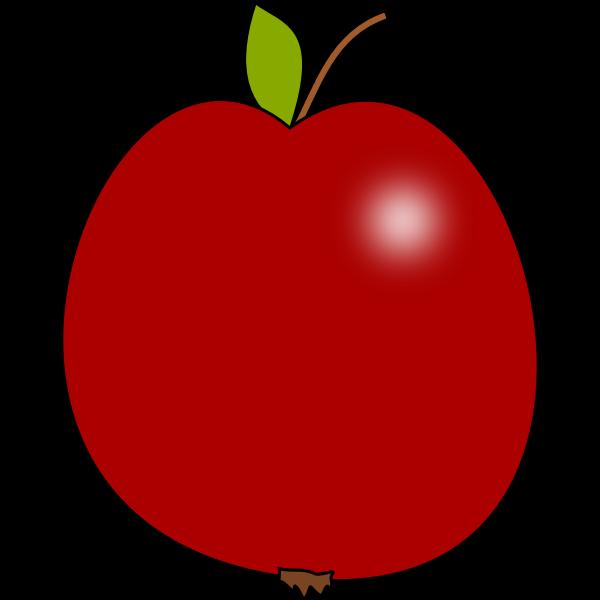 Vector clip art of tomato colour apple