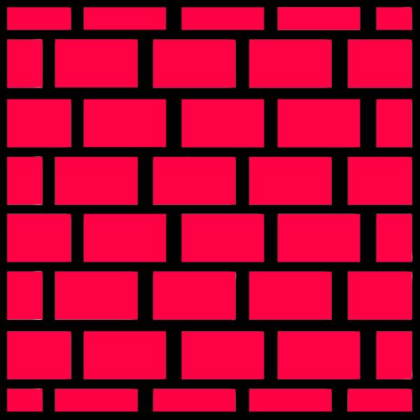 Pink brick wall vector illustration