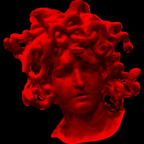 Red Medusa's head