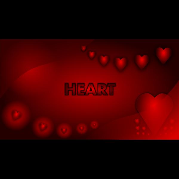 Valentine heart wallpaper vector graphics
